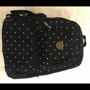 Perfect Baby diaper backbag-Black white polka dots